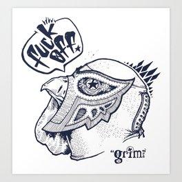 Mascara de Gallo Art Print