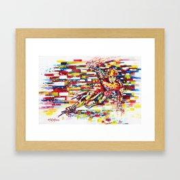 Apolo Anton Ohno - Flow Framed Art Print