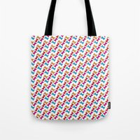 bows Tote Bags featuring Bows by Amy Lou