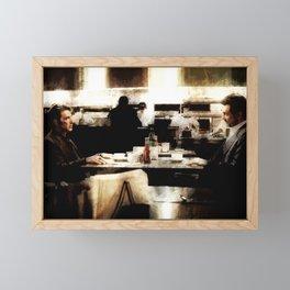 Heat Coffee Shop Iconic Scene Framed Mini Art Print