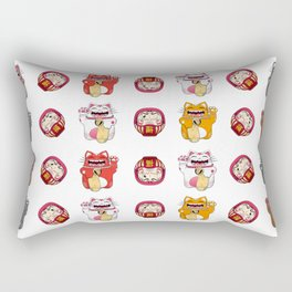 Colorful Maneki - neko pattern design Rectangular Pillow