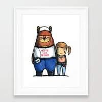 napoleon dynamite Framed Art Prints featuring Napoleon Dynamite Is A Bear.  by vcky