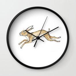 Spring rabbit Wall Clock