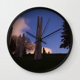 Japanese Ainu Totems at Simon Fraser University, BC Wall Clock