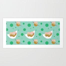 Takoyaki Time Art Print
