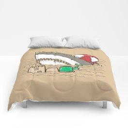 Sandy Beach Shark Comforters