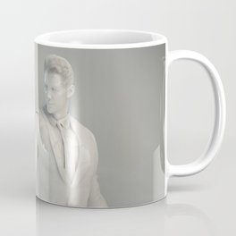Christianity Religion with Man Looking at Holy Cross Glowing Coffee Mug