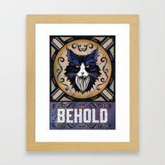 Behold Framed Art Print