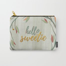 Hello Sweetie, Gold Fall Wreath Carry-All Pouch
