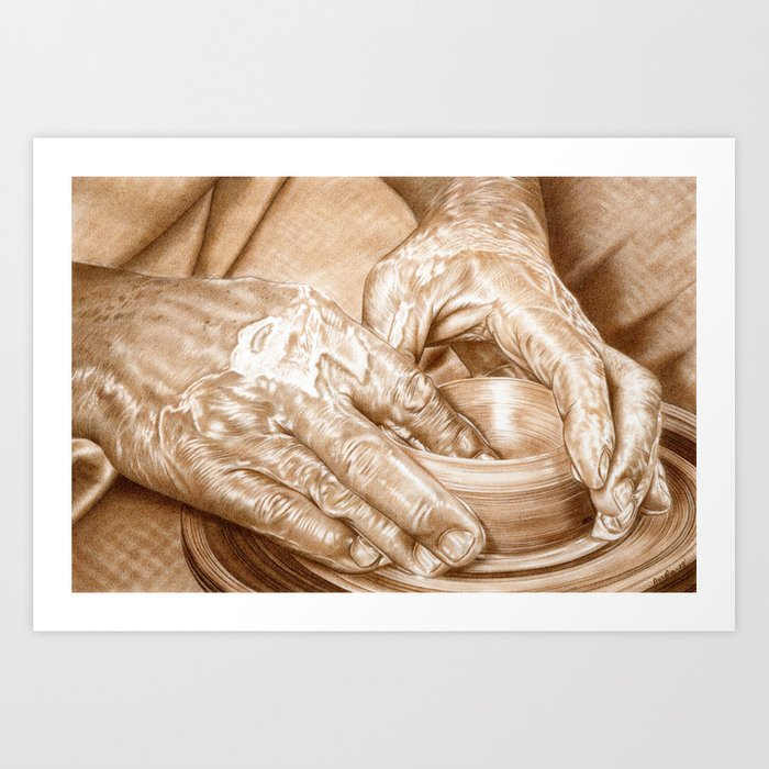 Potter Art Print