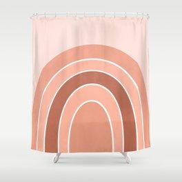 Rainbow arc - neutrals Shower Curtain
