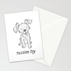 Dog Breeds: Russian Short Haired Terrier Stationery Cards