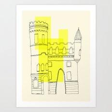 yellow castle Art Print
