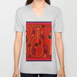 Flamenco Guitars Unisex V-Neck