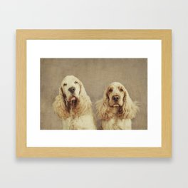 Bobs Framed Art Print