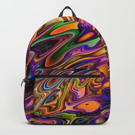 Hot Abstract Colors Backpack