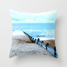 Outlook over the North Sea Throw Pillow