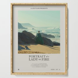 Portrait of a Lady on Fire (2019) Minimalist Poster Serving Tray