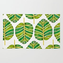 Elephant Ear Alocasia – Green Palette Rug
