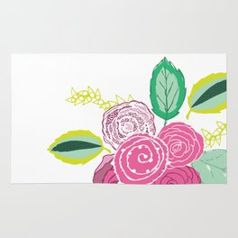 Belles Fleurs - pink roses Rug