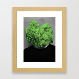 Sir broccoli head. Framed Art Print
