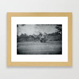 Horse and Cart in Cuba Framed Art Print