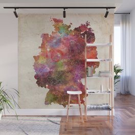 Germany map Wall Mural