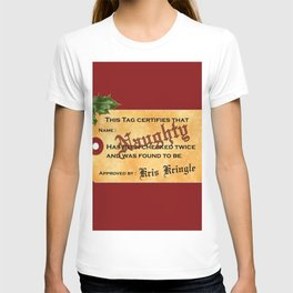 Santa Naughty List T-shirt