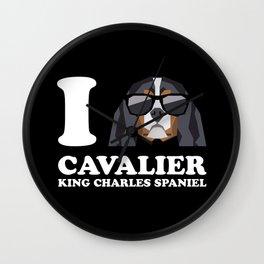 I Love Cavalier King Charles Spaniel modern v2 Wall Clock