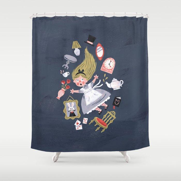 Alice In Wonderland Shower Curtain By Wanderingbert Society6