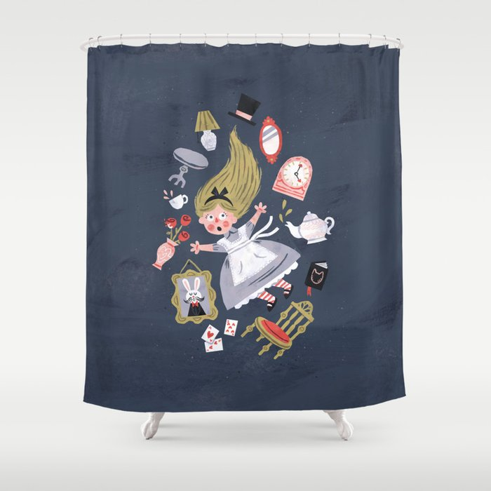Alice In Wonderland Shower Curtain By Wanderingbert
