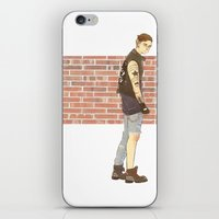 bucky barnes iPhone & iPod Skins featuring Bucky Barnes punk by maria euphemia
