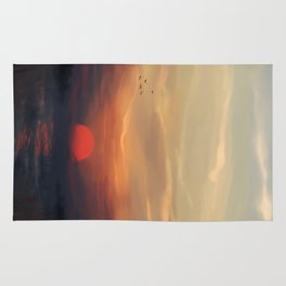 Red Sun Rug
