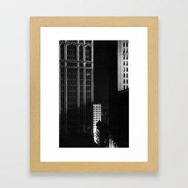 architecture immeuble noir blanc 4 Framed Art Print
