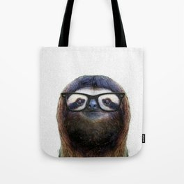 Hipster Sloth Tote Bag