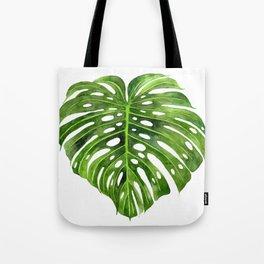 Jungle Leaf Monstera Deliciosa Tote Bag