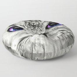 Galaxy Owl Eyes Floor Pillow