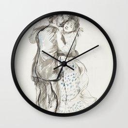 La danse a la campagne (The Dance in the Country) (1883) by Pierre-Auguste Renoir Wall Clock