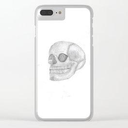 Death Skull (original work of 8yr old boy) Clear iPhone Case