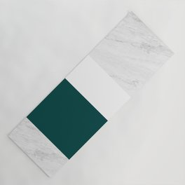 Marble And Teal Yoga Mat