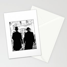 Men out of their Time Stationery Cards