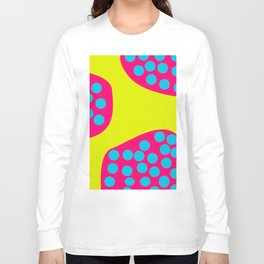 Green Purple Dots Long Sleeve T-shirt