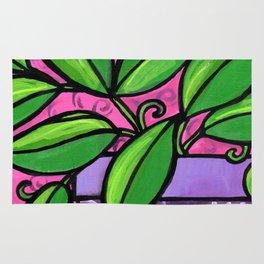 Purple Potted Plant Rug