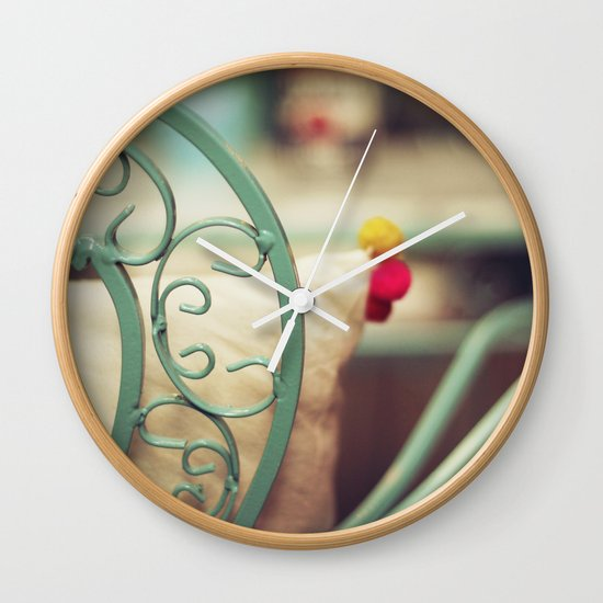 The chair and the pillow Wall Clock