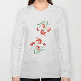orange day lily Long Sleeve T-shirt