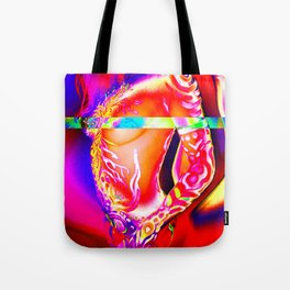 Body Paint Lighting Experiment 19 Tote Bag