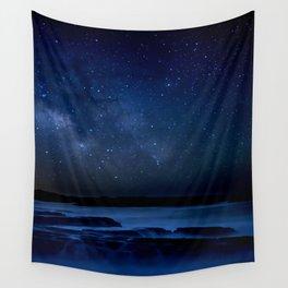 Dark Night California Coastal Waters Wall Tapestry