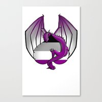asexual Canvas Prints featuring Asexual Wyvern by (i)Rene
