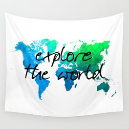 world map 124 explore the world #map #worldmap Wall Tapestry