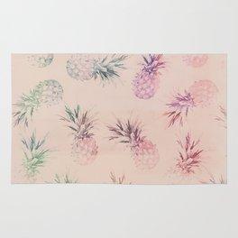 Soft Pastel Pineapple Summe Pattern Rug